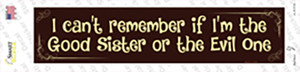 I Cant Remember Wholesale Novelty Narrow Sticker Decal