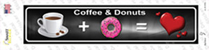 Coffee And Donuts Wholesale Novelty Narrow Sticker Decal