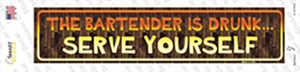 Serve Yourself Wholesale Novelty Narrow Sticker Decal