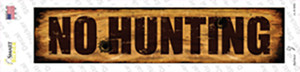 No Hunting Wholesale Novelty Narrow Sticker Decal