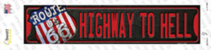Highway To Hell Route 66 Wholesale Novelty Narrow Sticker Decal
