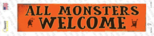 All Monsters Welcome Wholesale Novelty Narrow Sticker Decal