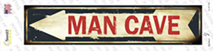 Man Cave Pointing Arrow Wholesale Novelty Narrow Sticker Decal