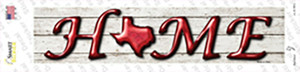 Texas Home Outline Wholesale Novelty Narrow Sticker Decal
