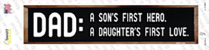 Dad A Son and Daughter Wholesale Novelty Narrow Sticker Decal