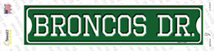 Broncos Dr Wholesale Novelty Narrow Sticker Decal