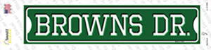 Browns Dr Wholesale Novelty Narrow Sticker Decal