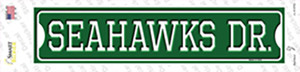 Seahawks Dr Wholesale Novelty Narrow Sticker Decal
