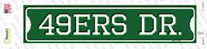 49ers Dr Wholesale Novelty Narrow Sticker Decal
