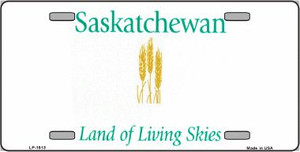 Saskatchewan Novelty Background Wholesale Metal License Plate LP-1513