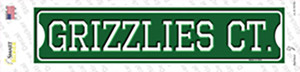 Grizzlies Ct Wholesale Novelty Narrow Sticker Decal