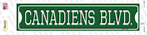 Canadiens Blvd Wholesale Novelty Narrow Sticker Decal