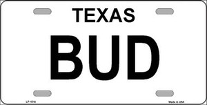 BUD Wholesale Metal License Plate LP-1514