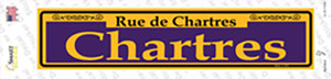 Chartres Purple Wholesale Novelty Narrow Sticker Decal