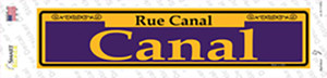 Canal Purple Wholesale Novelty Narrow Sticker Decal