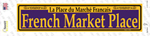 French Market Place Purple Wholesale Novelty Narrow Sticker Decal