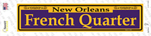 French Quarter Purple Wholesale Novelty Narrow Sticker Decal
