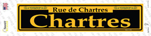 Chartres Yellow Wholesale Novelty Narrow Sticker Decal