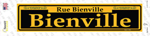 Bienville Yellow Wholesale Novelty Narrow Sticker Decal