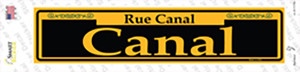 Canal Yellow Wholesale Novelty Narrow Sticker Decal