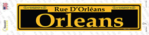 Orleans Yellow Wholesale Novelty Narrow Sticker Decal