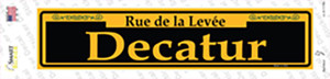 Decatur Yellow Wholesale Novelty Narrow Sticker Decal