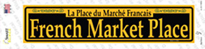 French Market Place Yellow Wholesale Novelty Narrow Sticker Decal