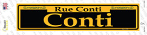 Conti Yellow Wholesale Novelty Narrow Sticker Decal