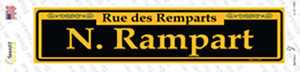 N. Rampart Yellow Wholesale Novelty Narrow Sticker Decal