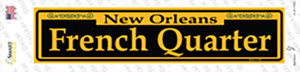French Quarter Yellow Wholesale Novelty Narrow Sticker Decal