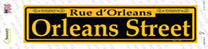 Orleans Street Yellow Wholesale Novelty Narrow Sticker Decal
