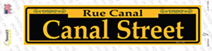 Canal Street Yellow Wholesale Novelty Narrow Sticker Decal