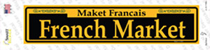 French Market Yellow Wholesale Novelty Narrow Sticker Decal