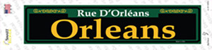 Orleans Green Wholesale Novelty Narrow Sticker Decal