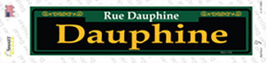Dauphine Green Wholesale Novelty Narrow Sticker Decal