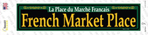 French Market Place Green Wholesale Novelty Narrow Sticker Decal