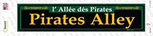 Pirates Alley Green Wholesale Novelty Narrow Sticker Decal