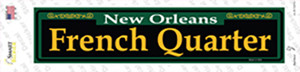 French Quarter Green Wholesale Novelty Narrow Sticker Decal