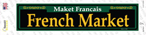 French Market Green Wholesale Novelty Narrow Sticker Decal