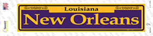 New Orleans Purple Wholesale Novelty Narrow Sticker Decal