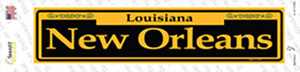 New Orleans Yellow Wholesale Novelty Narrow Sticker Decal