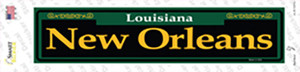 New Orleans Green Wholesale Novelty Narrow Sticker Decal