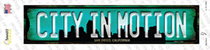 San Diego California City in Motion Wholesale Novelty Narrow Sticker Decal