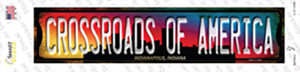 Indianapolis Indiana Crossroads of America Wholesale Novelty Narrow Sticker Decal