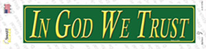 In God We Trust Wholesale Novelty Narrow Sticker Decal