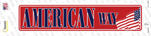 American Way Wholesale Novelty Narrow Sticker Decal