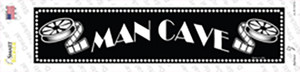 Man Cave Home Theater Wholesale Novelty Narrow Sticker Decal
