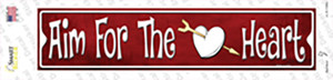 Aim For The Heart Wholesale Novelty Narrow Sticker Decal