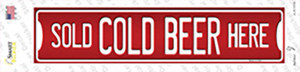 Cold Beer Here Wholesale Novelty Narrow Sticker Decal