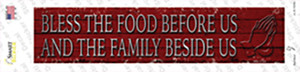 Bless The Food Before Us Wholesale Novelty Narrow Sticker Decal
